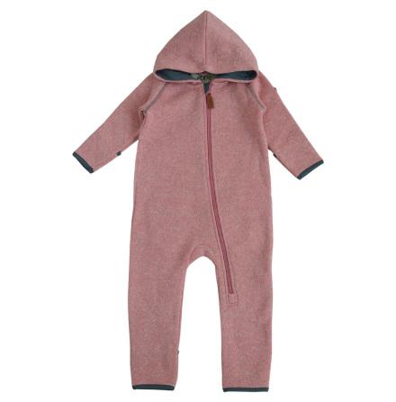 Dandy - Pink fleece bodysuit for baby