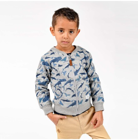 Berkely  - Printed sweat jacket for children