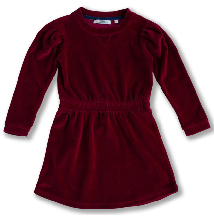 Jalena - Red velour dress for children