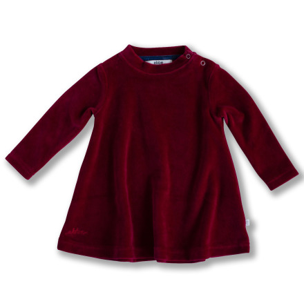 Jaden - Red velour dress for children