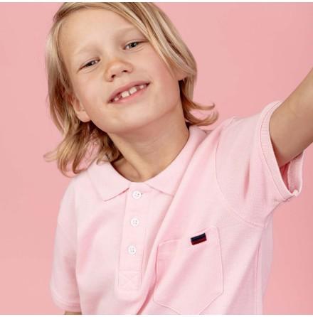 Harper - Pink polo shirt for children
