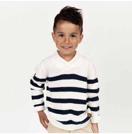 Navarro - Striped knitted sweater for children
