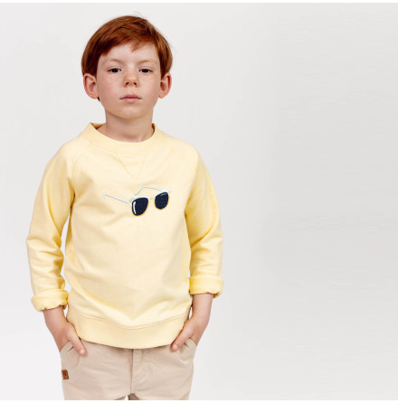 Hidalgo - Yellow sweater for kids