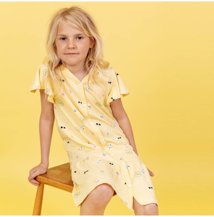 Henrietta - Printed jersey dress for children
