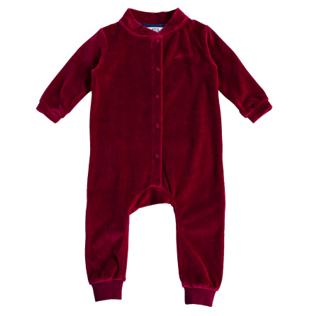 Jabilo - Red velour onepiece for baby
