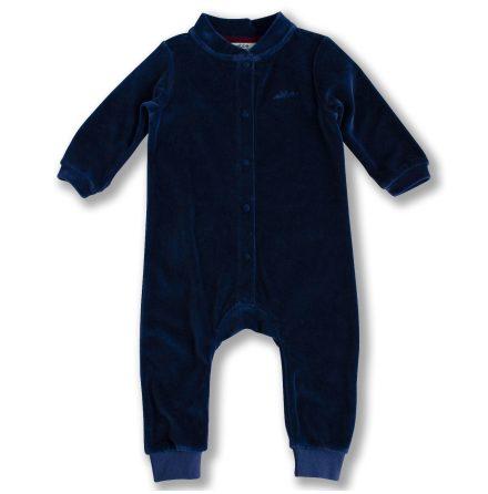 Jabilo - Blue velour onepiece for baby